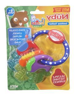 Baby Ice Gel Teether Keys Baby Toy Soft Teething Soothing Bi