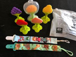 Baby Teether Set-5 Pack Soft Silicone Fruit Teething Toys BP