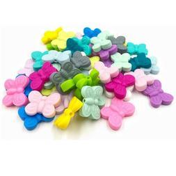 Butterfly Teether Silicone Beads Baby Teething Sensory Jewel