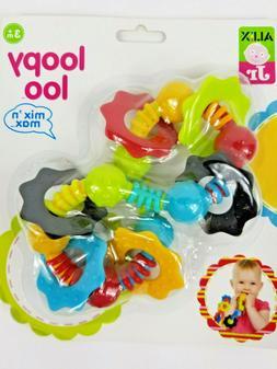 Loopy Loo Teether Baby Teething Gum Toy ALEX Jr. Sensory Act