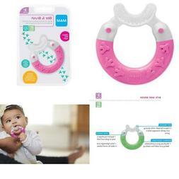 MAM Baby Toys, Teething Toys, Bite & Brush Teether, Girl, 3+