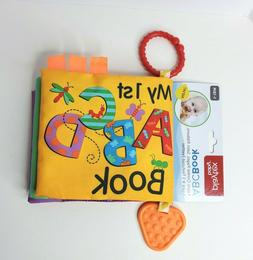 Playtex -My 1st ABCD Book-Baby-Soft-Crinkle Pages-Teether-Fr