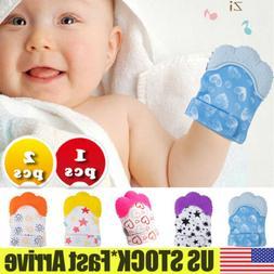 New Silicone Baby Teething Mitt Teether Mitten Glove Safe BP