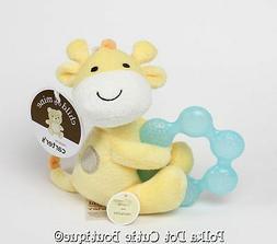 NWT Carter's Child of Mine Plush Yellow Giraffe Rattle Water