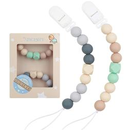 Pacifier Clip Baby Boys Silicone Teething Relief Teether Toy