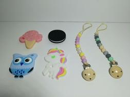 Silicone High Quality Baby Teether and Clip Pacifier Chain C